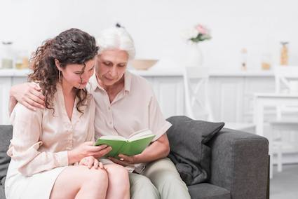 learning about dementia with a personal carer